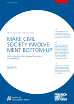 Make civil society involvement bottom-up
