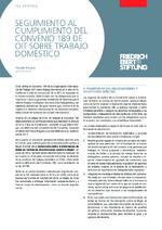 Seguimiento al cumplimiento del convenio 189 de OIT sobre trabajo doméstico