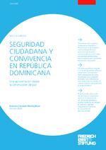 Seguridad ciudadana y convivencia en República Dominicana