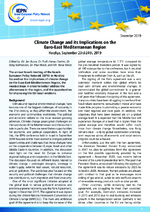 Climate change and its implications on the Euro-East Mediterranean region