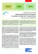 Wissenschaftskommunikation - Impulse in Zeiten der Corona-Krise