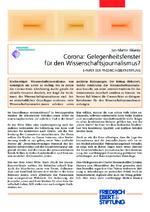 Corona: Gelegenheitsfenster für den Wissenschaftsjournalismus?