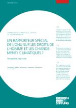 Un rapporteur spécial de l'ONU sur les droits de l'homme et les changements climatiques?