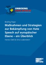 Maßnahmen und Strategien zur Bekämpfung von Hate Speech auf europäischer Ebene