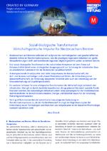 Sozial-ökologische Transformation - Wirtschaftspolitische Impulse für Niedersachsen/Bremen
