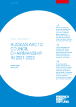 Russia's Arctic Council chairmanship in 2021-2023