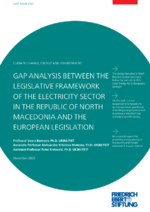 Gap analysis between the legislative framework of the electricity sector in the Republic of North Macedonia and the European legislation