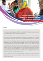 A guide to ensuring gender equality for women workers in trade unions in Bangladesh