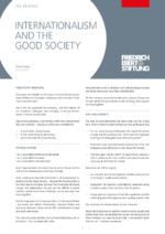 Internationalism and the Good Society