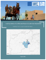 Local dynamics of conflict and peace in South-East Afghanistan