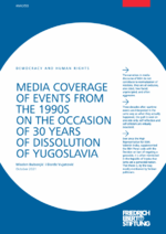 Media coverage of events from the 1990s on the occasion of 30 years of dissolution of Yugoslavia